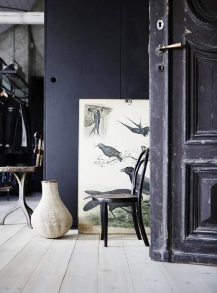 冷色工业空间风黑白调的室内设计__顺义家装中国建筑设计院中国图片