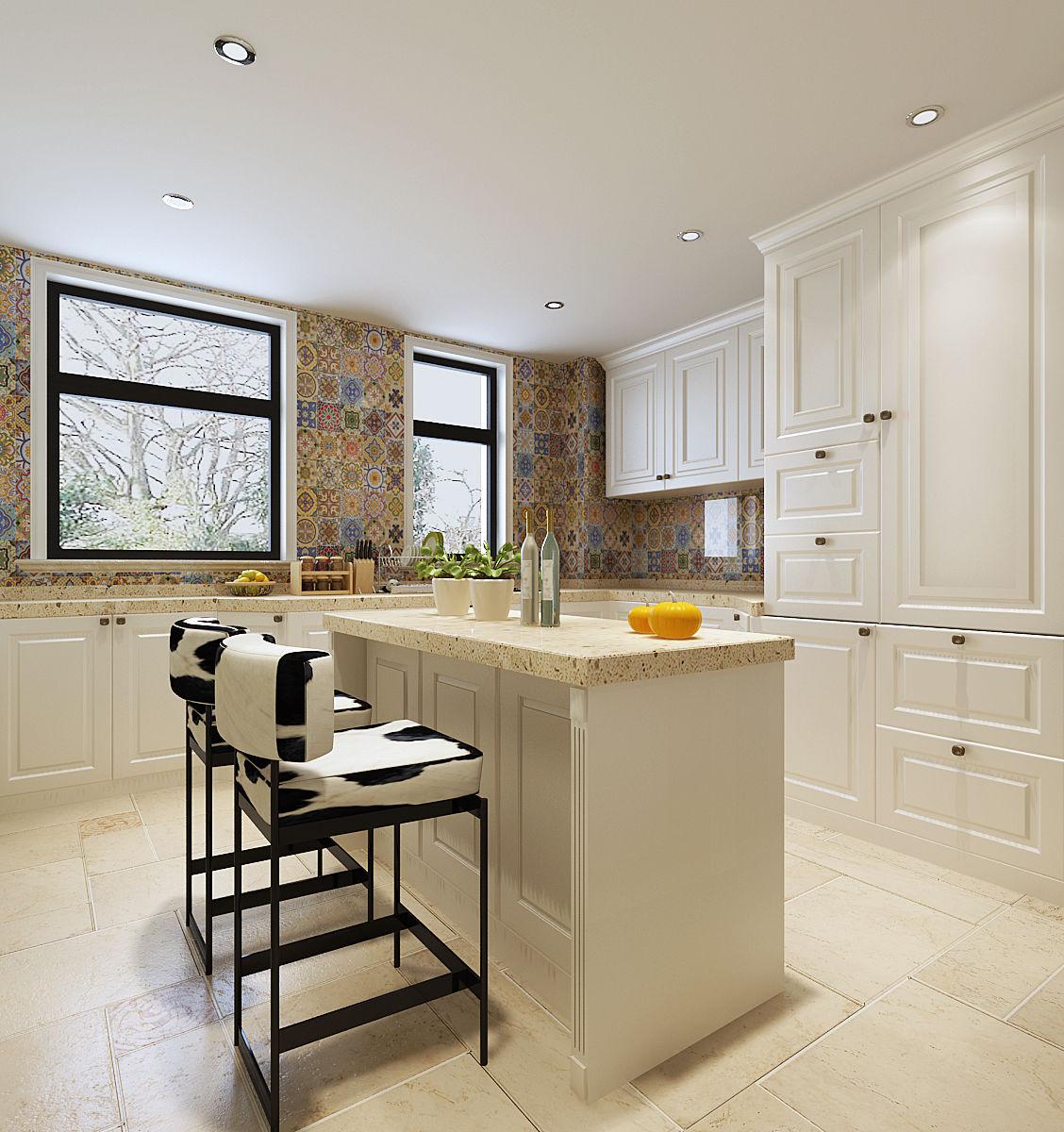 中西开放式厨房装修设计案例及效果图欣赏