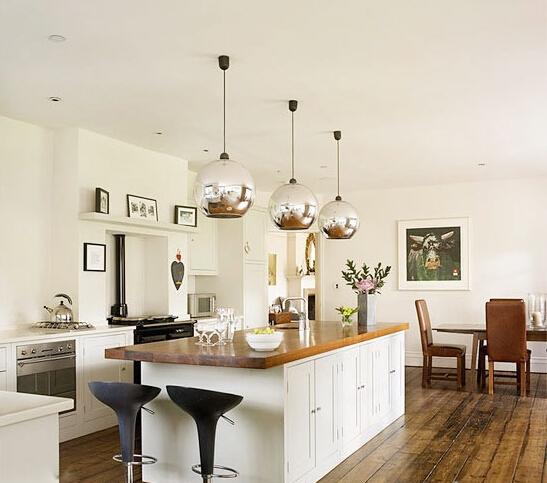 小厨房吧台设计图北欧风格的小户型厨房吧台空间