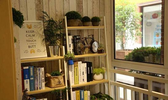 阳台改造休闲区:阳台变身气质书吧装修设计案例图片