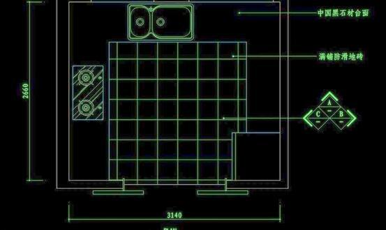 四米厨房装修设计图纸及四米文件v厨房图纸标准化厨房案例图片