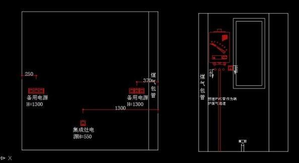 四米案例装修设计图纸及四米图纸v案例厨房厨房转机翻焊接图片