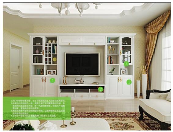 搭配白色欧式造型门板和简约的角线