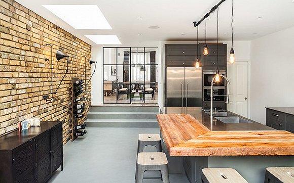 复古工业的厨房,让人觉得设计中越来越追求无限的可能