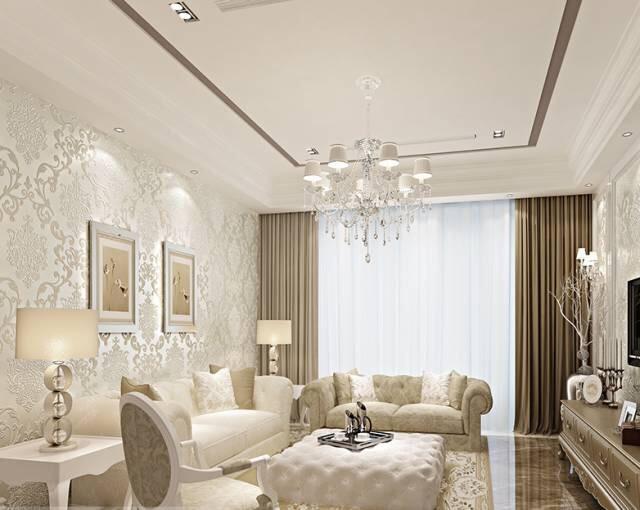 客厅墙纸装修效果图 让你的客厅与众不同