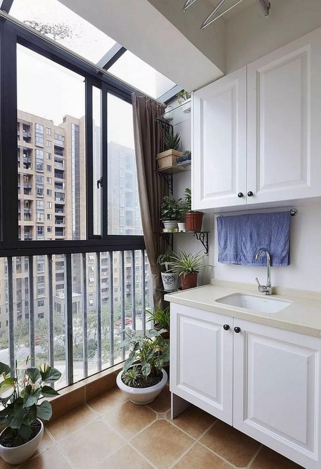阳台柜设计的好 收纳,洗衣,养花通通搞定图片
