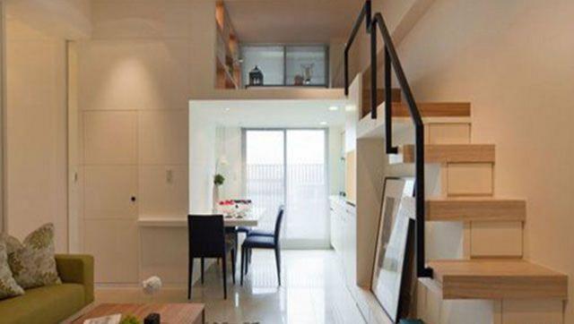 1,楼梯划分   小户型家居在设计楼梯时需要先考虑好空间的划分