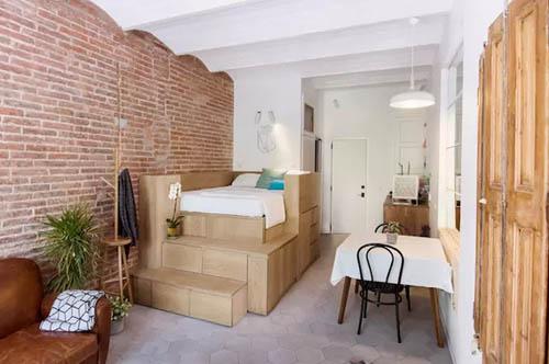 巴塞罗那 25 平米公寓翻新